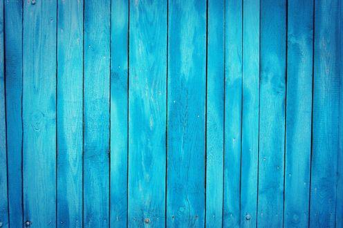 Обои Голубые деревянные доски