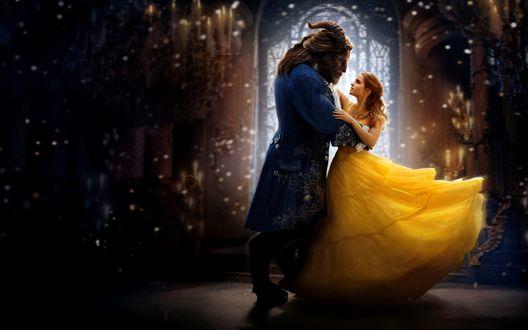Обои Belle and Kyle Kingson / Белль и Кайл Кингсон из фильма Beauty and the Beast / Красавица и чудовище