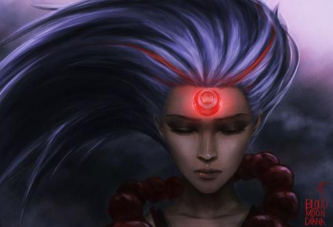 Обои Diana / Диана из игры Лига Легенд / League of Legends, by danielju
