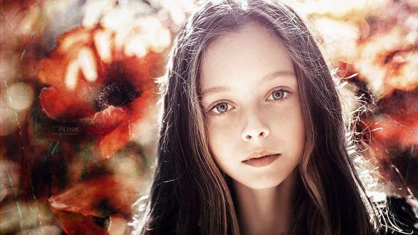Обои Портрет милой девочки, фотограф Sergey Piltnik