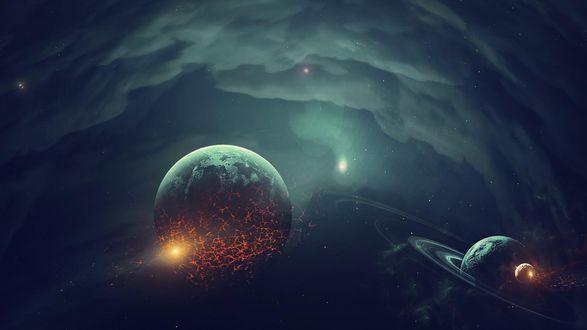 Обои Планеты в космосе