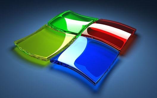 Обои Эмблема операционной системы Windows корпорации Microsoft