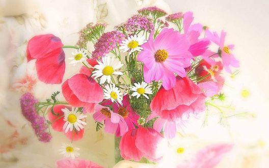 Обои Букет цветов в вазе