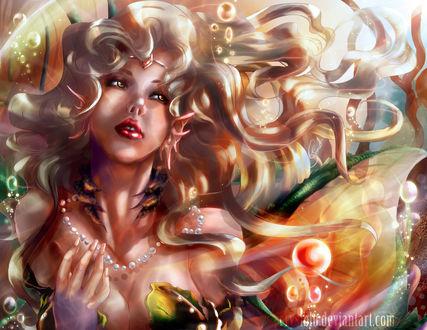 Обои Девушка-русалка под водой, by crysiblu