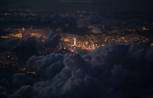 Обои Hong Kong / Гонконг под облаками, фотограф Coolbiere. A