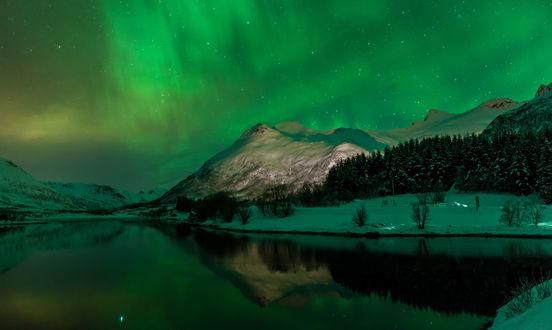 Обои Северное сияние в Norway / Норвегии, by Jerry Fryer