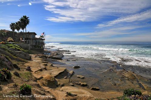 Обои Дом на морском побережье, by Veronique Derouet