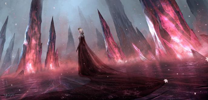 Обои Dark Queen Elsa / темная королева Elsa, by ChaoyuanXu