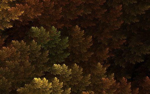 Обои Фрактальная зеленая листва