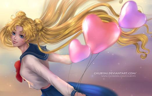 Обои Usagi Tsukino / Усаги Цукино из аниме Bishoujo Senshi Sailor Moon / Красавица-воин Сейлор Мун, by ChubyMi