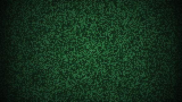 Обои Фон из зеленых пикселей