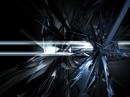 Обои Абстрактные кибер обои в черно-голубых тонах