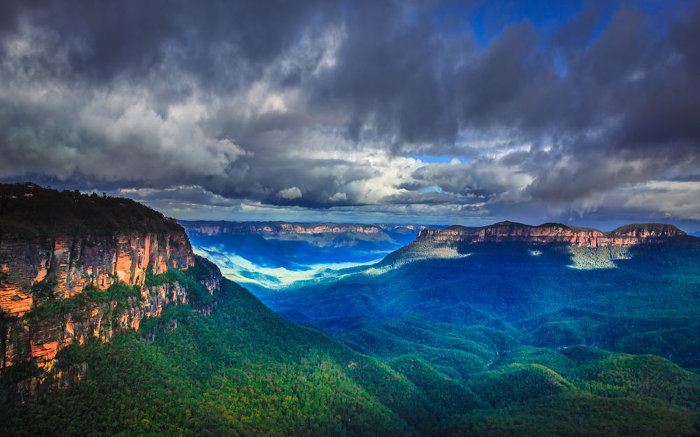 Обои для рабочего стола Австралия, красивый вид на голубые горы в штате Новый Южный Уэльс