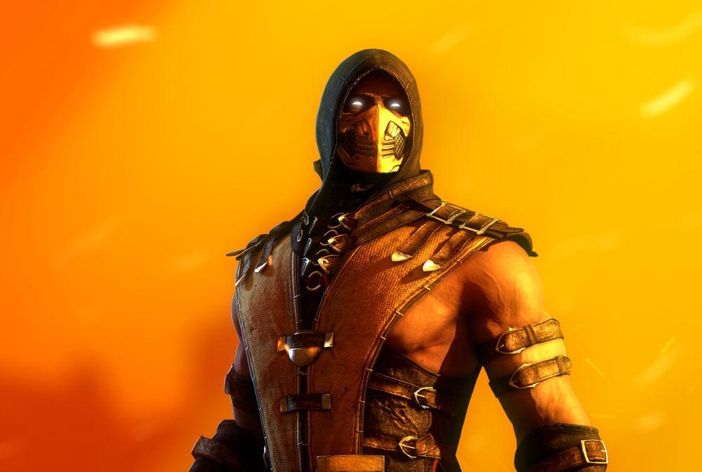 Обои для рабочего стола Scorpion / Скорпион - персонаж игры Mortal Rombat X / Смертельная битва X