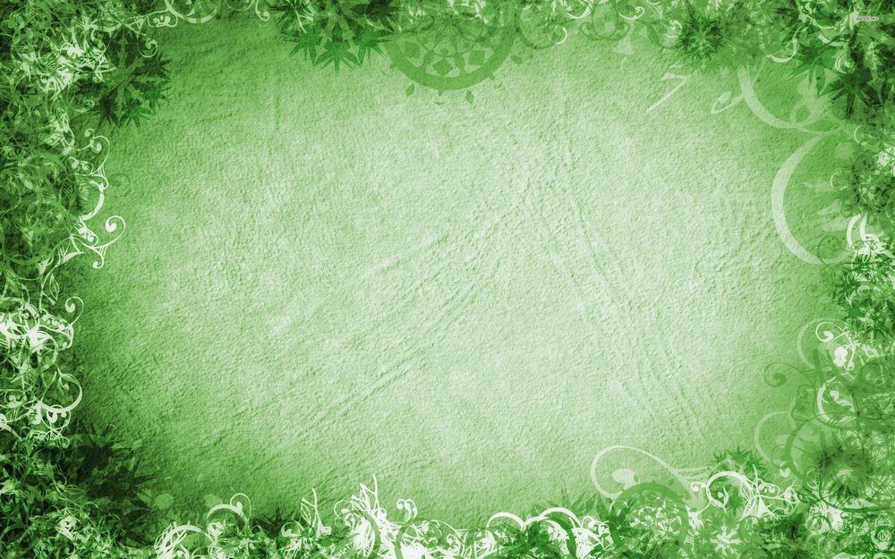Обои для рабочего стола Зеленая текстура с абстрактной рамкой