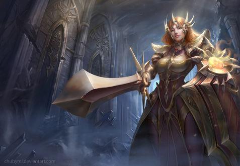 Обои Leona / Леона из игры League of Legends / Лига Легенд, by ChubyMi