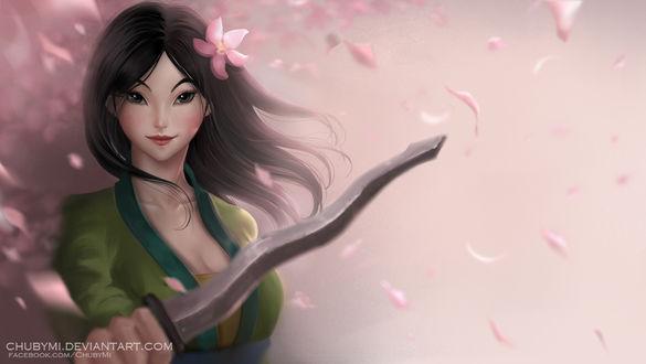 Обои Mulan / Мулан из мультфильма Mulan / Мулан, by ChubyMi