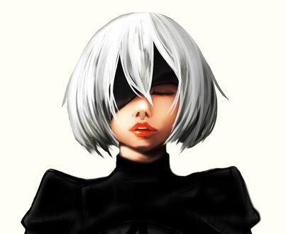 Обои YoRHa №2 тип B из игры NieR: Automata, by JEN