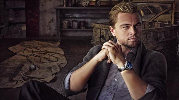 Обои Известный актер Леонардо Ди Каприо / Leonardo DiCaprio