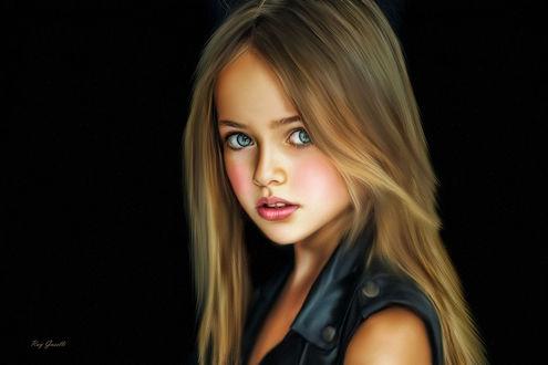 Обои Портрет самой красивой девочки в мире Кристины Пименовой, by Ray Guselli