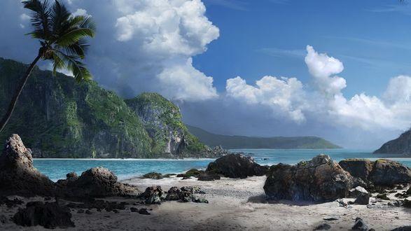 Обои Затерянный остров в тихом океане