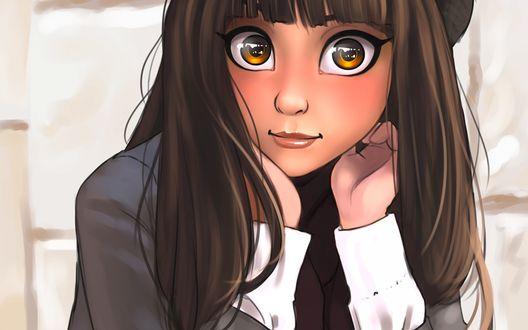 Обои Красивая девочка с огромными глазами