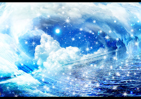 Обои Облака над морем, by ゾノ丸