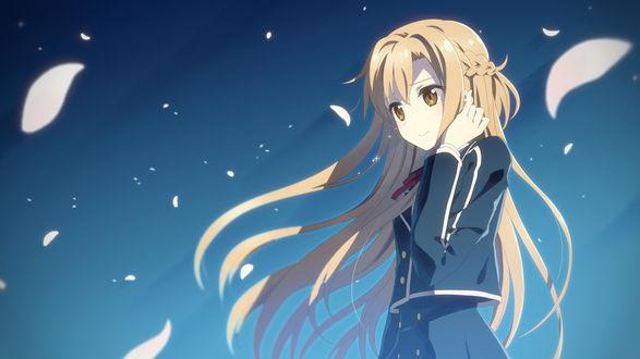 Обои Асуна Юки / Yuuki Asuna из аниме Мастера меча онлайн / Sword Art Online