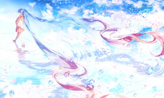 Обои Vocaloid Hatsune Miku / Вокалоид Хатсунэ Мику, by gomzi