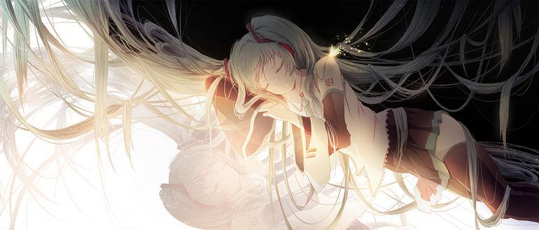 Обои Vocaloid Hatsune Miku / Вокалоид Хатсунэ Мику, by 冷蝉