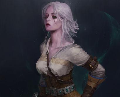 Обои Цирилла / Cirilla из игры Ведьмак 3: Дикая Охота / The Witcher 3: Wild Hunt