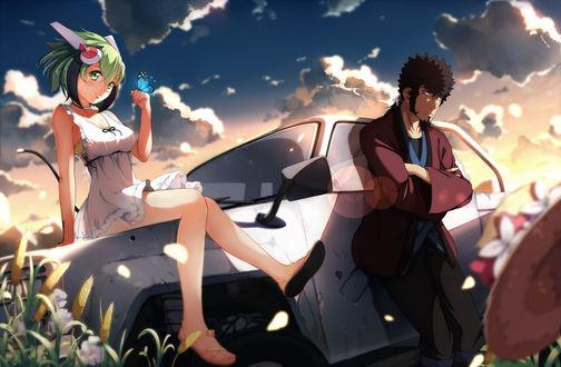 Обои Мира Юризаки / Mira Yurizaki и Кема Мабучи / Kyouma Mabuchi из аниме Измерение «W» / Dimension W