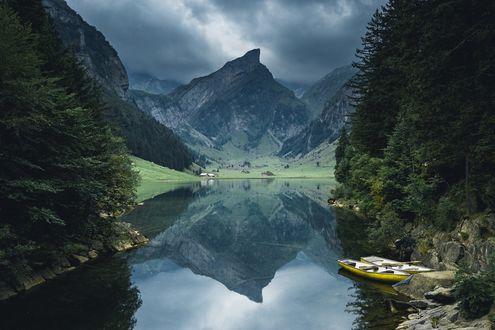 Обои Чудное место в Switzerland / Швейцарии, фотограф Johannes Hulsch