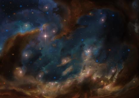 Обои Космическая туманность, by Lesard