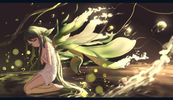 Обои Сая из визуальной новеллы Песнь Саи / Saya no Uta