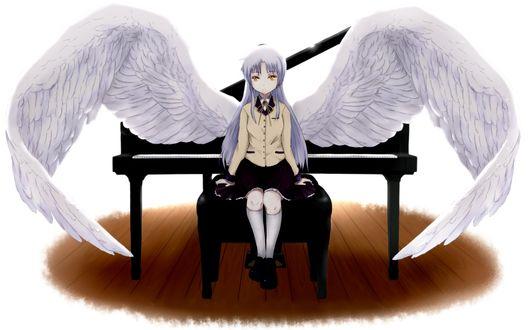 Обои Канадэ Тачибана / Kanade Tachibana из аниме Angel Beats / Ангельские Ритмы