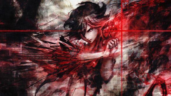 Обои Рюко Матой / Matoi Ryuko из аниме и манги Убей или умри / Круши, кромсай / Kill la Kill перевоплощается