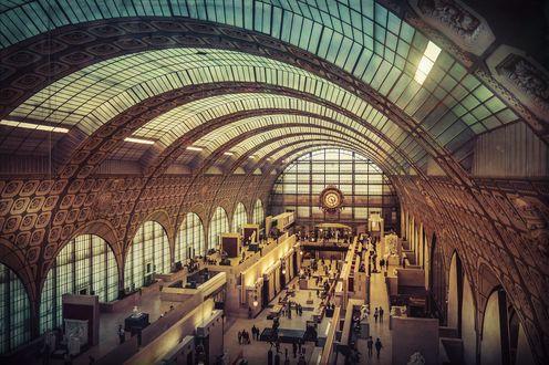 Обои Музей Орсе, Париж, Франция