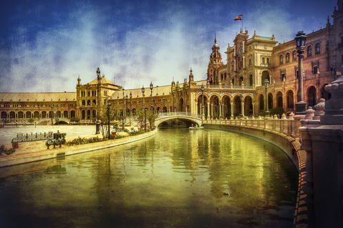 Обои Площадь Испании, Севилья, Испания