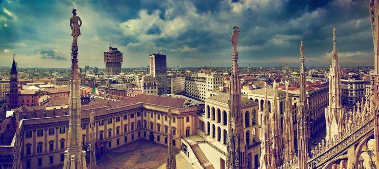 Обои Вид с высоты на Милан