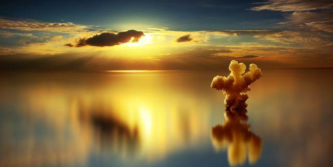 Обои Безмятежный закат над водой, фотограф Anna Ovatta