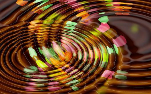 Обои Абстрактные разноцветные спирали