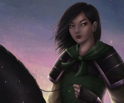 Обои Mulan / Мулан из мультфильма Mulan / Мулан, by Nindei