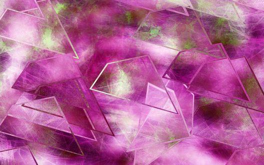 Обои Абстрактные формы в лиловых тонах