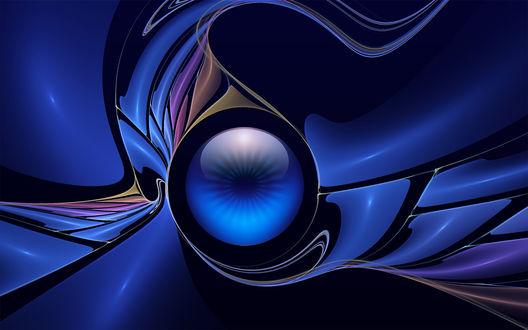 Обои Абстрактный глаз в синих тонах