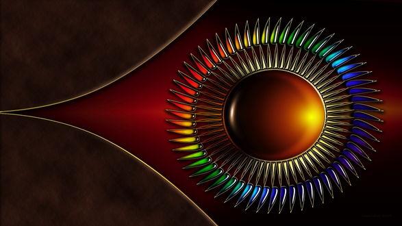 Обои Абстрактное изображение шара с зубцами, автор Nathan Smith