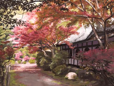 Обои Японский весенний пейзаж, by Selven7