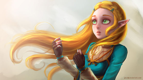 Обои Princess Zelda / Принцесса Зельда из игры Zelda no Densetsu / Skyward Sword, by JaezX