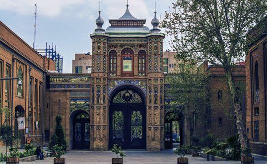 Обои Вход в Иранский национальный ботанический сад