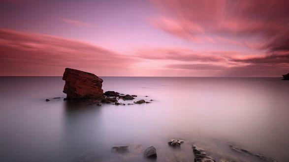 Обои Спокойное море под вечерним небом